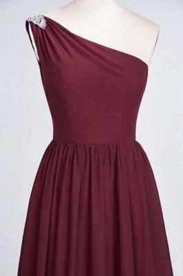 A-Line One-Shoulder Sleeveless Ruffles Floor-Length  Bridesmaid Dress with Beadings_5