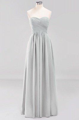 A-line  Sweetheart Strapless Ruffles Floor-length Bridesmaid Dress_29