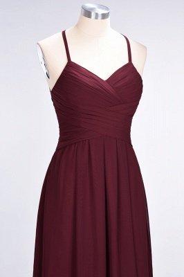 A-Line Halter V-Neck Sleeveless Floor-Length  Bridesmaid Dress with Ruffles_6