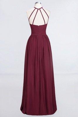 A-Line Halter Sleeveless Floor-Length  Bridesmaid Dress with Ruffles_2