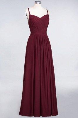 A-Line Spaghetti-Straps Sweetheart Sleeveless Floor-Length  Bridesmaid Dress with Ruffles_3