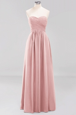 A-line  Sweetheart Strapless Ruffles Floor-length Bridesmaid Dress_6