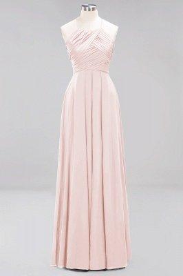A-Line  Halter Ruffles Floor-Length Bridesmaid Dress_5