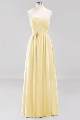 A-line  Sweetheart Strapless Ruffles Floor-length Bridesmaid Dress_17