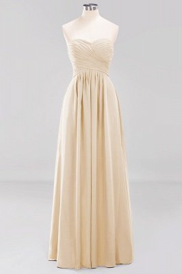 A-line  Sweetheart Strapless Ruffles Floor-length Bridesmaid Dress_14