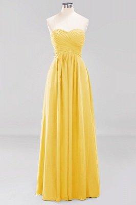 A-line  Sweetheart Strapless Ruffles Floor-length Bridesmaid Dress_16