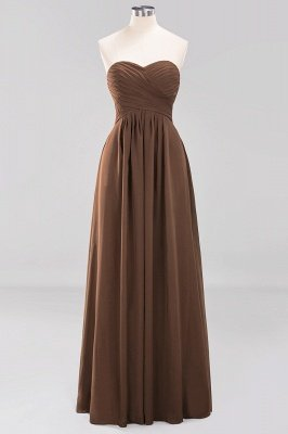 A-line  Sweetheart Strapless Ruffles Floor-length Bridesmaid Dress_12