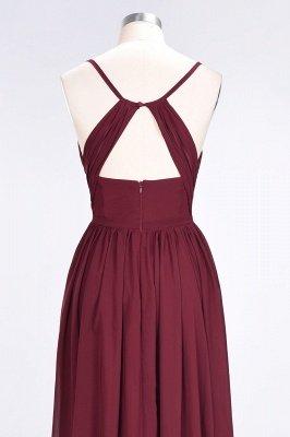 A-Line Spaghetti-Straps V-Neck Sleeveless Floor-Length  Bridesmaid Dress with Ruffles_6