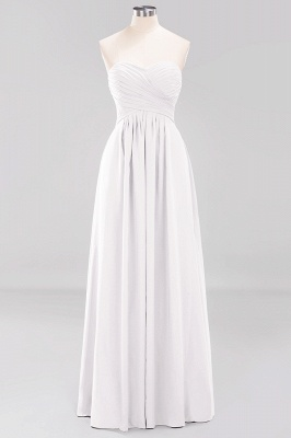 A-line  Sweetheart Strapless Ruffles Floor-length Bridesmaid Dress_1