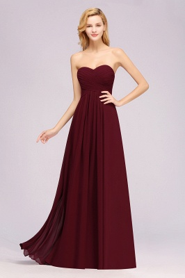 A-line  Sweetheart Strapless Ruffles Floor-length Bridesmaid Dress_39
