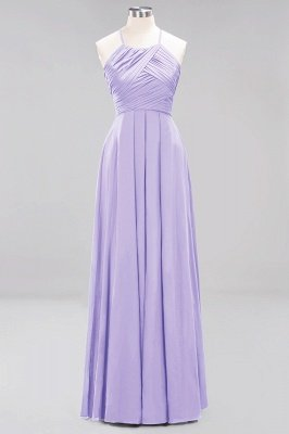 A-Line  Halter Ruffles Floor-Length Bridesmaid Dress_20