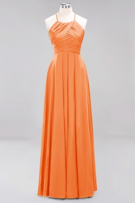 A-Line  Halter Ruffles Floor-Length Bridesmaid Dress_15