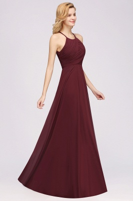 A-Line  Halter Ruffles Floor-Length Bridesmaid Dress_38