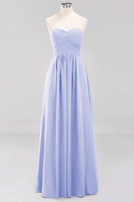 A-line  Sweetheart Strapless Ruffles Floor-length Bridesmaid Dress_21