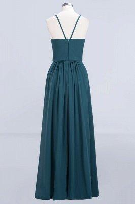 Dark-Green Chiffon A-Line Elegant Spaghetti-Straps Bridesmaid Dress_5