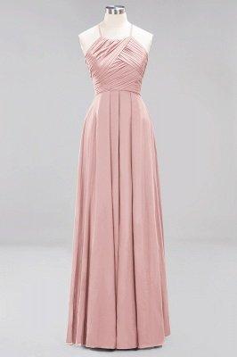 A-Line  Halter Ruffles Floor-Length Bridesmaid Dress_6