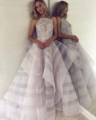 Charming Halter Sleeveless Appliques A-Line Floor-Length Prom Dress_5