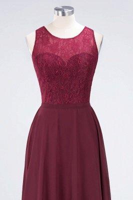 A-Line Jewel Sleeveless Hollowout Floor-Length  Lace Bridesmaid Dress_4