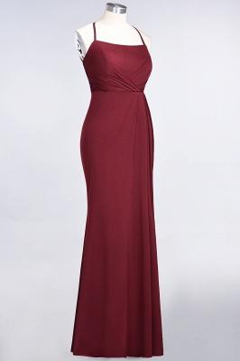 Mermaid Spaghetti-Straps Sleeveless Floor-Length spandex Lace Bridesmaid Dress with Ruffle_33