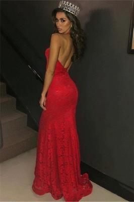 Beautiful Mermaid Halter Sleeveless Deep-V-Neck Prom Dresses with Appliques_3