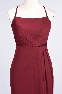 Mermaid Spaghetti-Straps Sleeveless Floor-Length spandex Lace Bridesmaid Dress with Ruffle_34