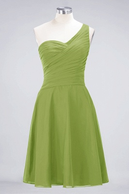 A-Line One-Shoulder Sweetheart Sleeveless Knee-Length  Bridesmaid Dress with Ruffles_32