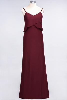 A-Line Spaghetti-Straps V-Neck Sleeveless Floor-Length  Bridesmaid Dress_2