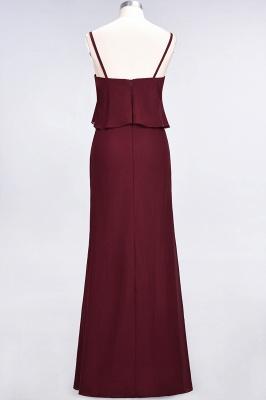 A-Line Spaghetti-Straps V-Neck Sleeveless Floor-Length  Bridesmaid Dress_3
