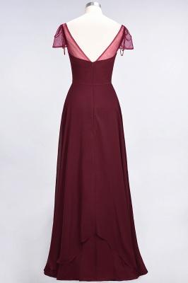 A-Line Sweetheart Cap-Sleeves Ruffle Floor-Length  Bridesmaid Dress with Beadings_3