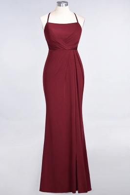 Mermaid Spaghetti-Straps Sleeveless Floor-Length spandex Lace Bridesmaid Dress with Ruffle_31