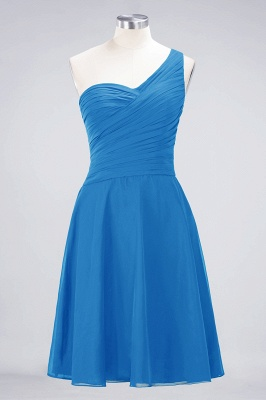 A-Line One-Shoulder Sweetheart Sleeveless Knee-Length  Bridesmaid Dress with Ruffles_24