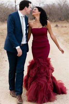 Stunning Mermaid Sleeveless Strapless  Floor-Length Prom Dresses_1