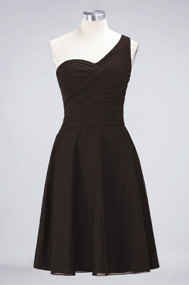 A-Line One-Shoulder Sweetheart Sleeveless Knee-Length  Bridesmaid Dress with Ruffles_11