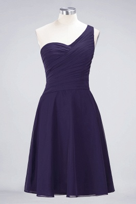 A-Line One-Shoulder Sweetheart Sleeveless Knee-Length  Bridesmaid Dress with Ruffles_18