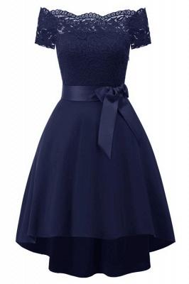 Cocktail Dresses Simple A-Line lace Elegant Summer Lace Dress-FS4035_5