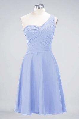 A-Line One-Shoulder Sweetheart Sleeveless Knee-Length  Bridesmaid Dress with Ruffles_21