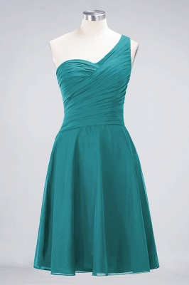 A-Line One-Shoulder Sweetheart Sleeveless Knee-Length  Bridesmaid Dress with Ruffles_31