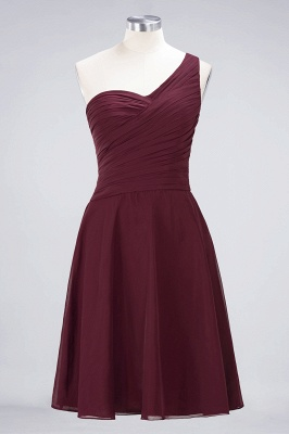 A-Line One-Shoulder Sweetheart Sleeveless Knee-Length  Bridesmaid Dress with Ruffles_10