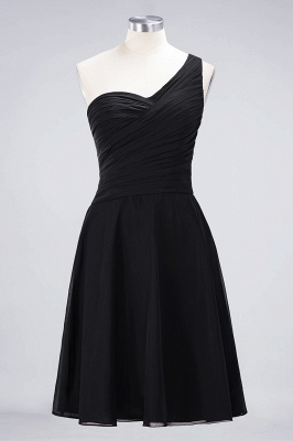 A-Line One-Shoulder Sweetheart Sleeveless Knee-Length  Bridesmaid Dress with Ruffles_28