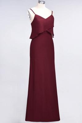 A-Line Spaghetti-Straps V-Neck Sleeveless Floor-Length  Bridesmaid Dress_4