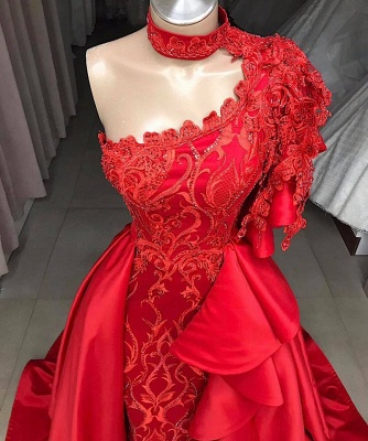Elegant A-Line One-Shoulder Halter Appliques Sequins Floor-Length Prom Dresses