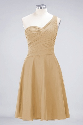 A-Line One-Shoulder Sweetheart Sleeveless Knee-Length  Bridesmaid Dress with Ruffles_13