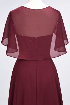 A-Line V-Neck short-sleeves Floor-Length Satin Bridesmaid Dress_6