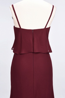 A-Line Spaghetti-Straps V-Neck Sleeveless Floor-Length  Bridesmaid Dress_7