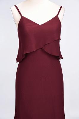 A-Line Spaghetti-Straps V-Neck Sleeveless Floor-Length  Bridesmaid Dress_5