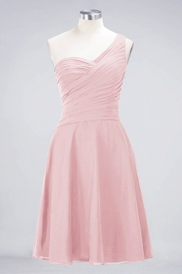 A-Line One-Shoulder Sweetheart Sleeveless Knee-Length  Bridesmaid Dress with Ruffles_3