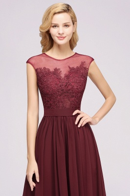 A-line  Lace Jewel Sleeveless Floor-Length Bridesmaid Dresses with Appliques_6