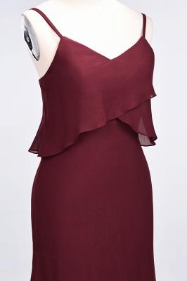 A-Line Spaghetti-Straps V-Neck Sleeveless Floor-Length  Bridesmaid Dress_6