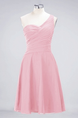 A-Line One-Shoulder Sweetheart Sleeveless Knee-Length  Bridesmaid Dress with Ruffles_4