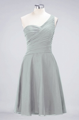 A-Line One-Shoulder Sweetheart Sleeveless Knee-Length  Bridesmaid Dress with Ruffles_29